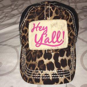 Accessories - Cute cheetah print hat